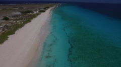 Aerial of uninhabited island Klein Curacao in Caribbean Stock Footage