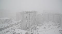 Heavy snowfall in Moscow, Russia Stock Footage