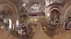 Church of the Holy Sepulchre: Mass at the Stone of the Anointing 360 video TV Stock Footage