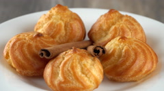 Delicious homemade pastry with cinnamon sticks. Seamless loopable. Prores 4K Stock Footage