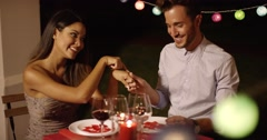 Romantic chivalrous young man Stock Footage