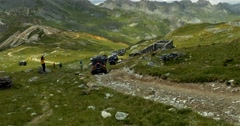 4x4, Offroad, Western Alps, Italy Stock Footage