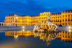Schonbrunn Palace Vienna Stock Photos