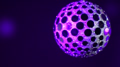 Disco ball. Blue discoball effect and reflection on the wall. Stock Footage