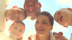 Happy Laughing Big Family Having Fun outdoors. Stock Footage