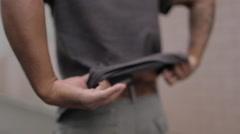 Tracking shot man with gun Stock Footage