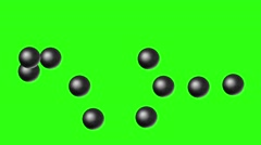 Chaotic motion of the balls Stock Footage