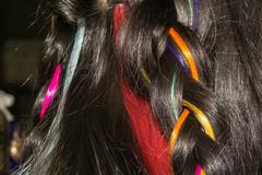 Hair with Colorful Strands Stock Photos