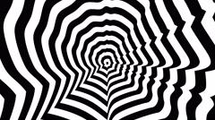 Bill Gates right profile - optical, visual illusion. Stock Footage