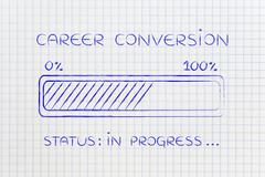 Career conversion progress bar loading Stock Illustration