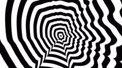 Mark Zuckerberg right profile - optical, visual illusion. Stock Footage