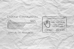 Career conversion progress bar loading & pop-up are you sure Piirros