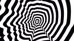 Mark Zuckerberg left profile - optical, visual illusion. Stock Footage