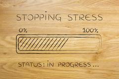 Stopping stress progress bar loading Stock Illustration
