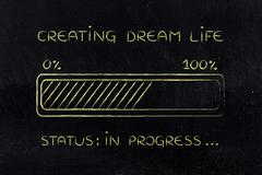 Creating dream life progress bar loading Stock Illustration