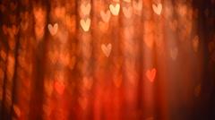 Valentine Hearts Background. Stock Footage