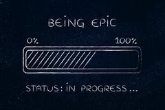 Being epic progress bar loading Stock Illustration