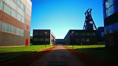 4K Essen Zeche Zollverein UNESCO Industrial Heritage Trial NRW Germany Europe Stock Footage