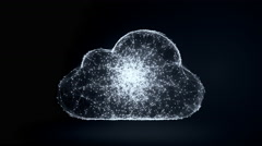 Cloud computing, slow moving communicated dots and lines Arkistovideo