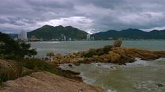 Nha Trang, Vietnam, Hon Chong rocks. Shot with slow panning Stock Footage