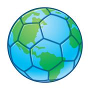 Planet Earth World Cup Soccer Ball Stock Illustration