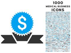 Banking Award Icon with 1000 Medical Business Icons Stock Illustration