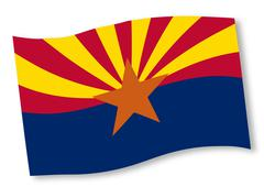 Arizona State Flag Stock Illustration