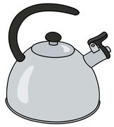 Stainless steel kettle Stock Illustration