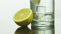 Carbonated lemon soda Stock Footage
