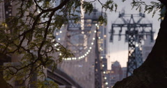 Queensboro Bridge - New York City - establishing shot - 4k Stock Footage