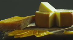 Pan of cheese platter Stock Footage