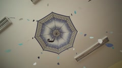 Umbrella decoration Stock Footage