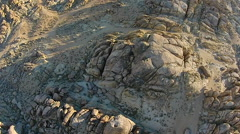 Rock Formations of Alabama Hills Sierra Nevada Owens Valley Lone Pine California Stock Footage