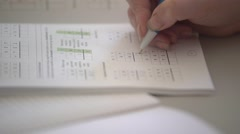 Exercise book fill in Stock Footage