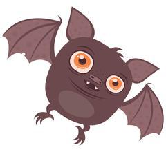 Batty Vampire Bat Cartoon Stock Illustration