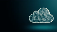 Cloud computing from the chaotically slow moving connected points Stock Footage