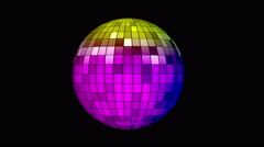 Mirror disco ball Stock Footage