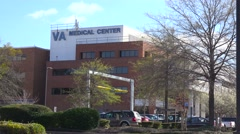 Establishing shot of a generic VA medical center in Jackson, Mississippi. Stock Footage