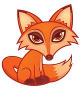 Cartoon Red Fox Piirros