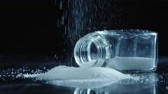 Sugar crystals and jar Stock Footage
