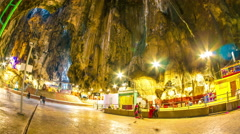 View of the Batu caves in Malaysia Stock Footage