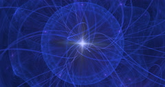 4K abstract blue sphere motion background seamless looping fractal Stock Footage