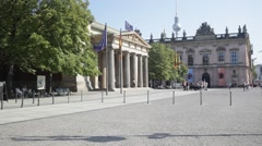 Unter den Linden and the Neue Wache Stock Footage