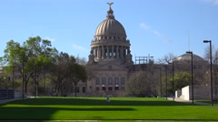 The stately capital building at Jackson, Mississippi. Stock Footage