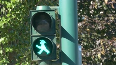 4K Traffic light walking man in Berlin and Essen Germany Europe Stock Footage