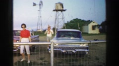 1961: piknik IOWA Stock Footage