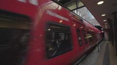 Copenhagen main railway station, underground - Denmark Stock Footage