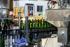 Automation bottling line for produce champagne in Alsace Kuvituskuvat