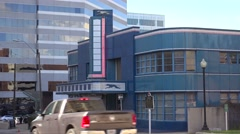 Establishing shot of the Greyhound bus station in Jackson, Mississippi. Stock Footage