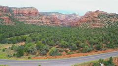 Fay Canyon Wide And High Pan- Sedona Arizona Stock Footage